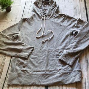 J Crew lt grey hoodie top in Large